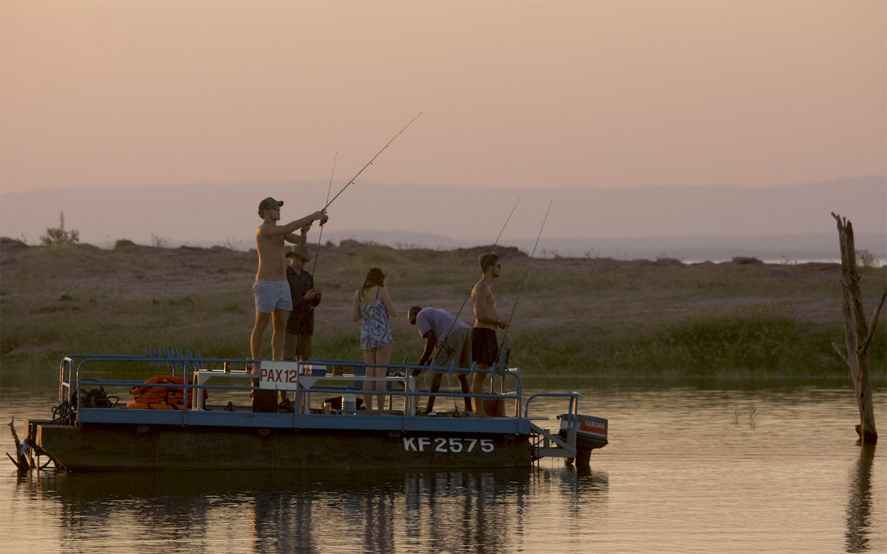 Casting in the beautiful Kariba sunset