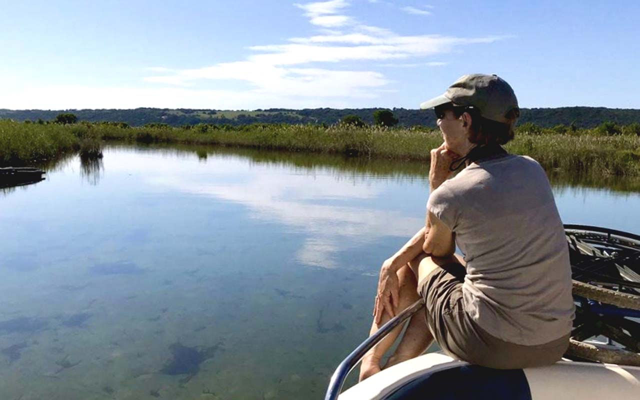 Contemplating life along the hippo-made channels between Kosi Bay lakes