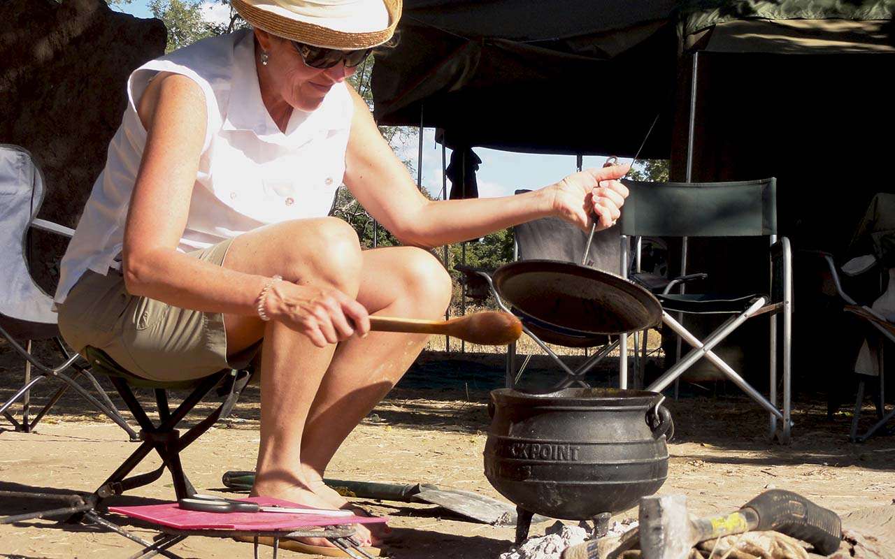 Our famous potjie cooking